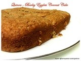 Quinoa - Barley Eggless Coconut Cake for eggless Baking