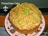 Apple Pistachio Cake with Brown sugar Icing – Akshara's First Month completion