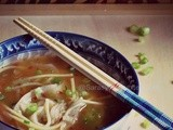 Cantonese Wonton Noodles soup ~ Vegetarian Version