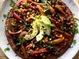Easy Vegan Mexican Pizza