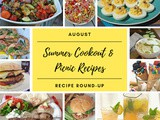 August Recipe Round-Up {Summer Cookout Recipes}