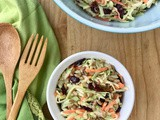 Broccoli stem slaw with cranberries