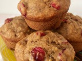 One bowl cranberry banana bread muffins