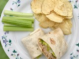 Slow cooker Buffalo chicken wraps