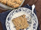 Sour cream and raisin oatmeal squares