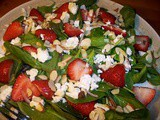 Spinach, strawberry, and feta salad