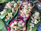 Thai red curry dragon fruit chicken salad