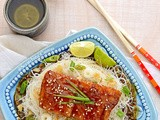 Asian Teriyaki Fish with Rice Vermicelli Noodles