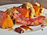 Roast Cauliflower and Butternut Squash Salad with Bacon and Spiced Caramelised Pecans