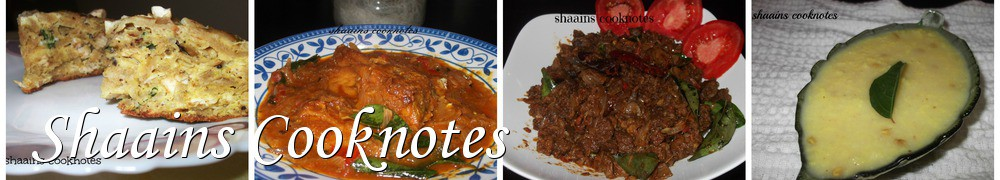 Very Good Recipes - Shaains Cooknotes