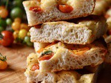 Focaccia Bread Recipe with Cherry Tomatoes