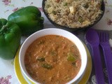 Capsicum Masala Curry - North Karnataka Style