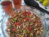 Sprouted Matki or Moth Beans Salad