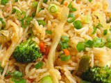 Chinese Fried Rice (Veg) Ingredients: