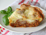 Impossible Lasagna Pie