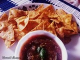 Homemade Tortilla Chips With Salsa