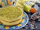 Citrus cream and pistachio cup