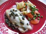 Poached Sole with Caper Sauce for #fishfridayfoodies