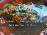 Vegetable Beef and Quinoa Soup for #SoupSaturdaySwappers