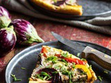 Fritatta with roasted vegetables