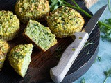 Healthy muffins with broccoli and courgette