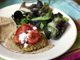Mediterranean Chickpea Burger #Vegetarian Recipes