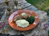 Pork Chops with Herb Butter: My Adaption of Veal Chops #French Fridays with Dorie