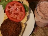 Soyfood Month: Have a Guilt Free Shake and Burger! #Healthy Eating #Weekly Menu Plan