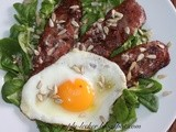 Lamb's Lettuce, Bacon, Egg Salad with Lemon and Honey Dressing