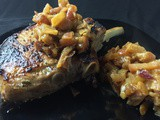 Slutty Brined Pork Chops with Apple Onion Chutney