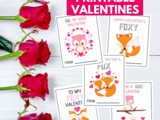 Adorable Woodland Animals Valentine Cards