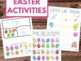 Easter Printable Activities Pack for Preschoolers