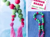 Easy diy Grinch Farmhouse Beads