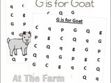 Farm Animals Find the Letter g is for Goat