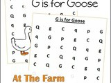 Farm Animals Find the Letter g is for Goose