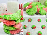 Grinch Cake Mix Crinkle Cookies