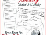 Kentucky State Fact File Worksheets