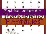M is for Mayflower Free Thanksgiving Worksheets