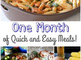 One Month of Quick and Easy Meals