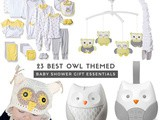 Owl Baby Shower Gift Ideas