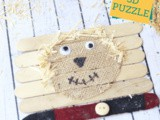 Scarecrow Popsicle Stick Puzzle with 3D Elements