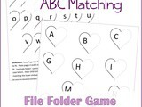 Sweetheart abc Letter Matching File Folder Game