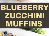 Tasty & Simple Blueberry Zucchini Muffins