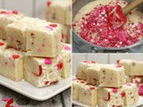 Valentine's Day Cake Mix Fudge