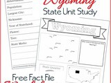 Wyoming State Fact File Worksheets