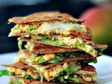 Chipotle Quesadillas with Minty Mango Salsa