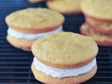 Pumpkin whoopie pies with ginger cream [huge giveaway] #VeganMoFo