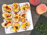 Sweet Cream Roasted Peach Crostini