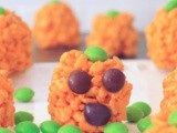 Vegan Rice Crispy Treat Pumpkin Patch