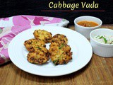 Cabbage Vada | How to make Cabbage Vadai